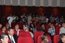 Estudiantes animaban a sus representantes.