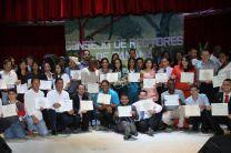 Estudiantes que recibieron Reconocimiento Estudiantil, por parte del CRP.
