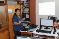 Profesora Elva Valderrama, instructora del Seminario