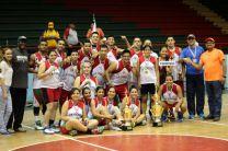 Ganadores del Campeonato Nacional de Baloncesto Masculino y Femenino 2015.