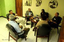 Representantes de Iglesia Católica reunidos con autoridades de UTP y UTP Colón.