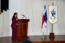 Dra. Rebeca Bierberach, en el Día del Educador en UTP Colón.