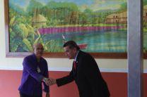 Inauguración del lienzo, a cargo del Rector de la UTP.