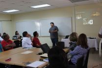Estudiante Ricardo Montenegro,en la Presentación del Proyecto.