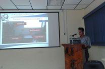 Estudiante Byron Mojica, en la presentación de Avances de su Investigación.