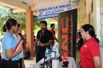 Administrativos presentes en la Feria de La Salud 2014.