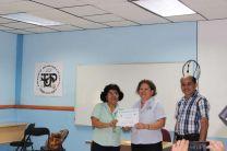 Licda. Milagros Córdoba, recibe reconocimiento por parte del MINSA.