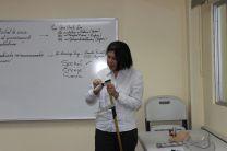 Demostraciones durante la conferencia.