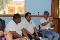 Reunión realizada para evaluar el simulacro.