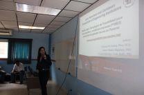 Licda. Luiyiana Pérez en la presentación de su Propuesta de Tesis Doctoral.