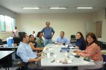 Las investigadoras reunidas con el Director de Investigación del ITM.