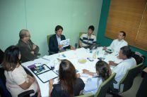 Representantes de la UTP y de la empresa SGS.