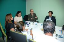 Durante la reunión se trató el tema de vinculación de la UTP con actividades em