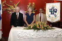 Sr. John Keffer, Sra. Janeth Robinson y el Ing. Felix Tejeira.