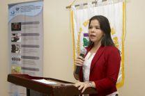 Magister Vianet Domínguez, en la presentación del Proyecto.