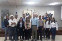 Director de UTP Colón, Ing. Policarpio Delgado M., acompañado del Coordinador de la FIM Licdo. Ángel Jiménez y personal de AES.
