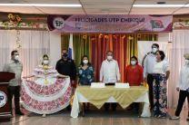 Autoridades de la UTP, docentes y estudiantes festejan el aniversario del Centro Regional de Chiriquí.