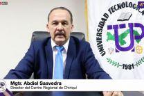 Director de Centro Regional de Chiriquí, Lic. Abdiel Saavedra.