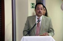 Magister Ricardo López, Decano de la Facultad de Ciencias y Tecnología.