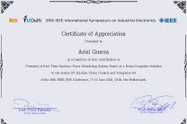 Certificado que obtuvo el estudiante Ariel Guerra.