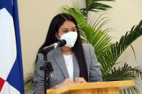 Estudiante Cristina Estribí, del Programa de Aviación de la Escuela de Aviación y Logística de la UTP
