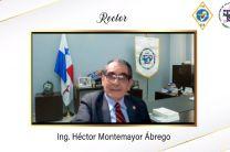 Rector de la UTP, Ing. Héctor M. Montemayor Á., da las palabras en la Imposición de Casco Ingenieriles de la FII.