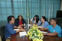 Magister Miguel Chen, reunido con estudiantes del programa de Maestría en Ciencias de la Ingeniería Mecánica.
