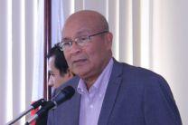 Arq. Francisco Estacio, Vicedecano de Investigación Postgrado y Extensión da la bienvenida al Concurso de Ponencias.