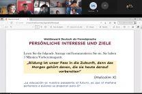 Diapositiva con pensamiento en Alemán.