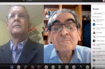 Ing. Efraín Conte, Coordinador del (GIATEC), en Coclé, e Ing. Héctor M. Montemayor Á., Rector de la UTP.