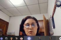 Ing. Martiza Cedeño, Coordinadora de Investigación y del Grupo de Gestión Empresarial del Centro Regional de Azuero, clausura el evento.