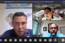 En la imagen, izquierda Ing. Okir Ortega, superior derecha Ing. Horacio Apolayo e inferior derecha el Ing. Mario Santana.