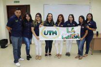 Estudiantes de la Universidad Tecnológica de Honduras visitan la UTP para conocer y comparar planes de estudios.