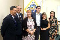 Autoridades de la UTP, junto a los Coordinadores del Proyecto UTP-GaTech.