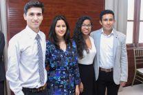Los estudiantes mejicanos Oscar Ramírez Hernández, Aarón Chávez Arias, María Isabel García y la española, María José Segura Ibarra, estudiantes de la UTP a través del Programa de Movilidad Estudiantil Internacional.