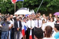 Autoridades de la UTP  acompañaron en los actos de recordación y de reivindicación, convocado por el Centro de Estudiantes.