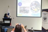Tania Arosemena, expositora de la ONG Fundación Mar Viva.