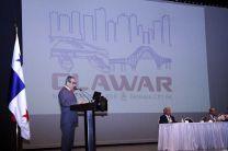 Ing. Héctor Montemayor durante su discurso en CLAWAR 2018.