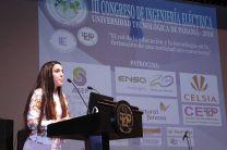 Adelyn García, Presidenta del III Congreso de Ingeniería Eléctrica.