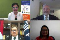 Autoridades de CSUCA, CEPREDENAC, COSUDE, participan de la clausura del Diplomado.