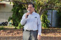Ingeniero Fernando González, Director de UTP Veraguas, dio las palabras de bienvenida al público presente.