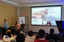 Dra. Gisselle Guerra con el tema Ingeniería Costera y Oceanográfica