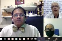 Expositores Dr. Juan Miguel Pascale y Dr. Paulino Vigil.