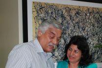 Profesor Tomás Pérez y la Ing. Mirtha Moore