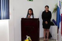 Palabras por la estudiante Karen González.