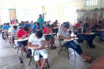 Estudiantes de la comunidad de Kankintú.