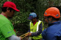 Dr. Reinhardt Pinzón, Dra. Nathalia Tejedor, Ing. Ana Franco colaboradoras en el proyecto.