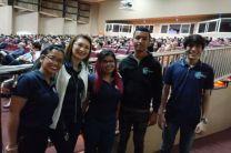 Estudiantes del Club de Mecatrónica FIE en EL Seminario de Inducción a la Vida Estudiantil Universitaria