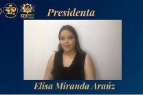 Estudiante Elisa Miranda Araúz, Presidenta del XXVI Congreso de la Facultad de Ingeniería Industrial.