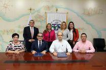 Firma del convenio marco de cooperación UTP - Hopsa y Formetal.